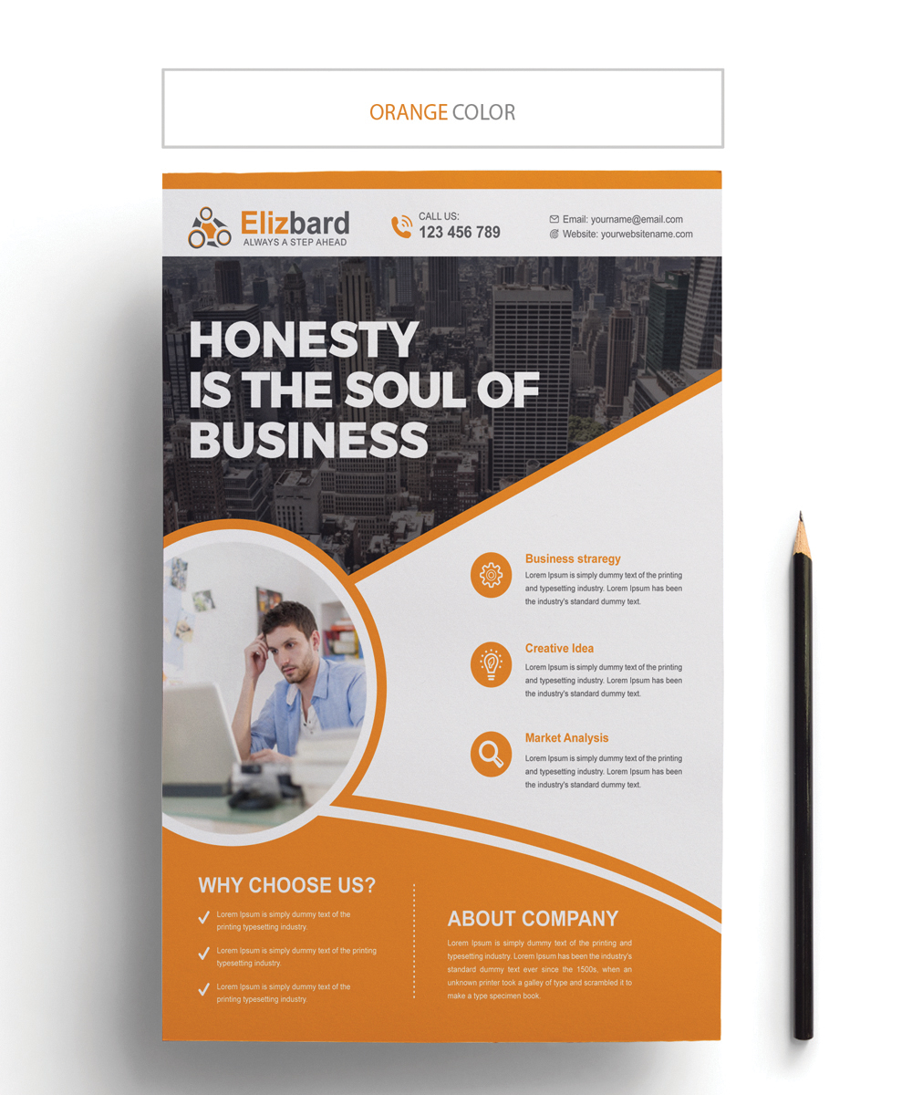 Elizbard Business Flyer Corporate Identity Template #67163