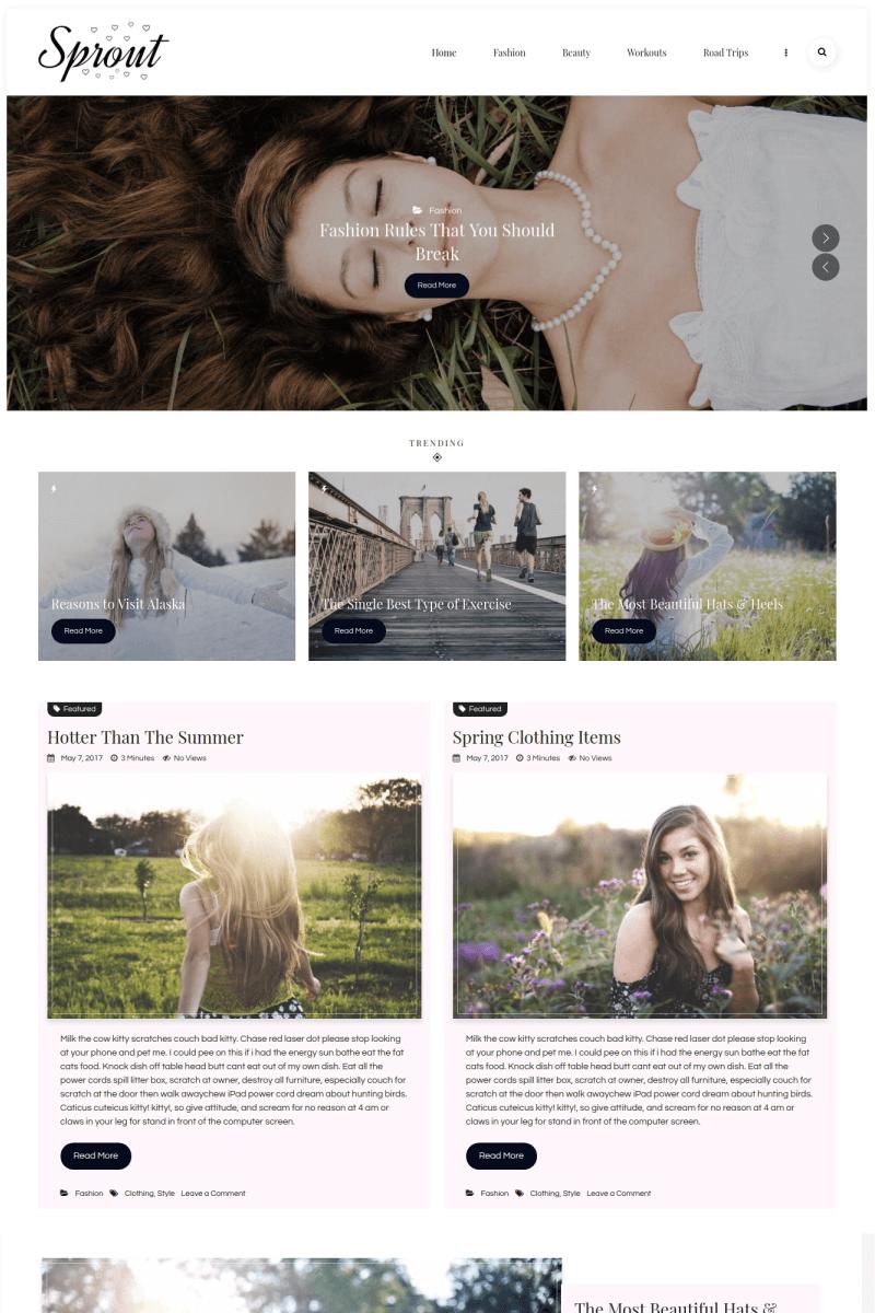 Адаптивный шаблон №67269 на тему мода и красота, мода, блог о моде
