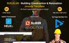 "Responzivní Joomla šablona ""BuildLab - Building Construction & Renovation"" Velký screenshot"