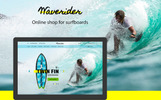 """Modello PSD #67118 """"Online shop for surfing"""""""