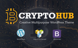 """CryptoHub - Cryptocurrency"" Responsive WordPress thema"