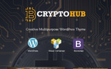 """CryptoHub - Cryptocurrency"" thème WordPress adaptatif"