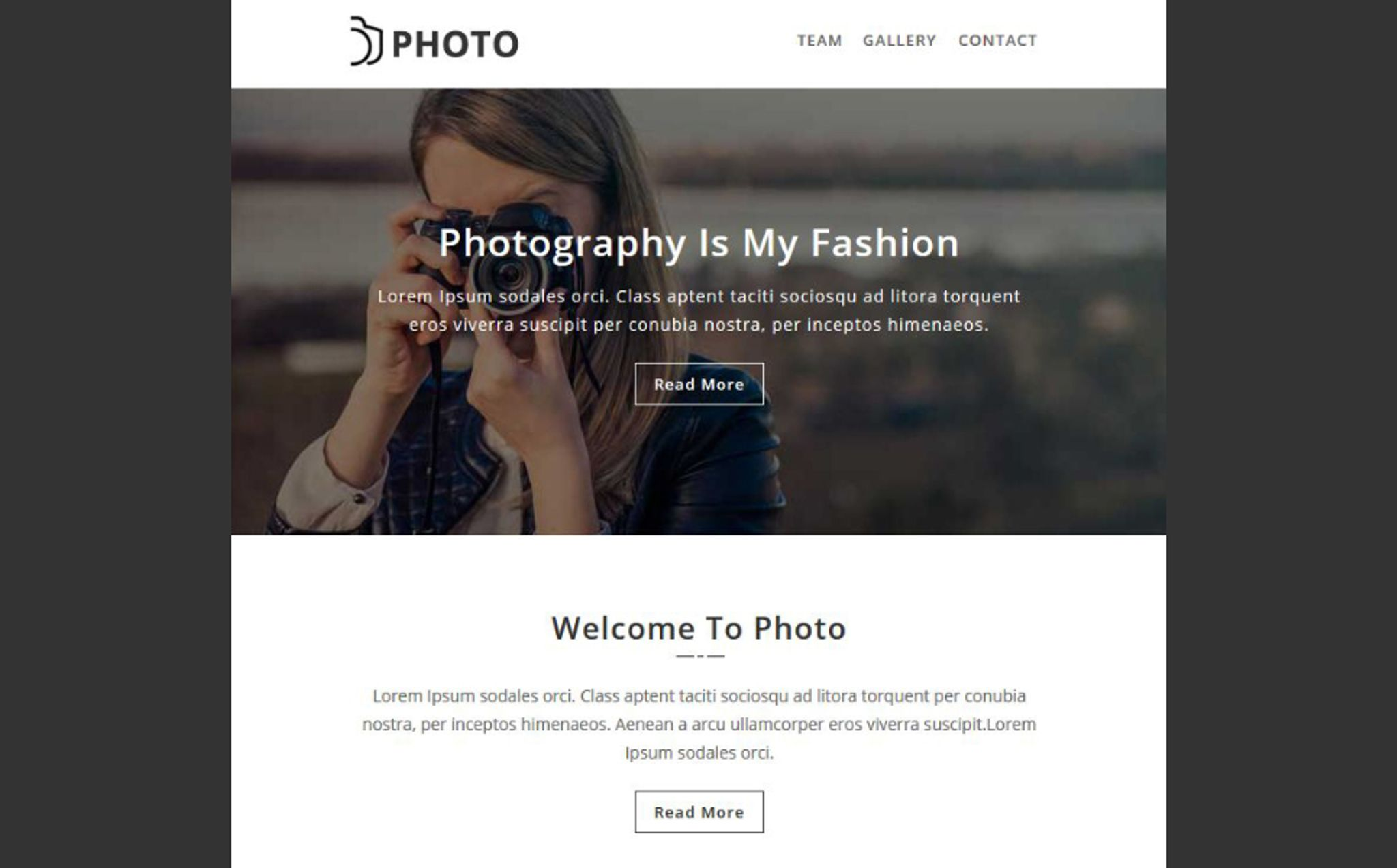 Photo - Responsive Email Newsletter Template #67228