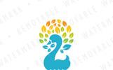 Swan of Leaves - Logo Template