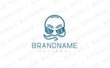 Headphones Face - Logo Template