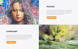Template Web Flexível para Sites de Galerias de Arte №67197