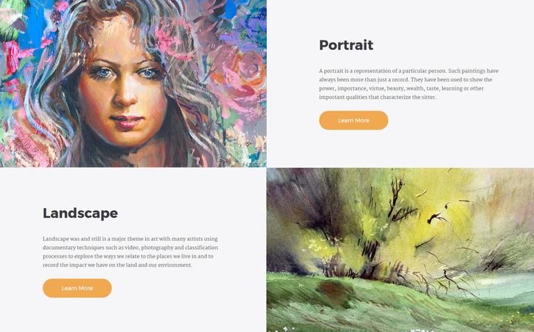 Morgan Artist Portfolio Multipage HTML5 Website Template 67197
