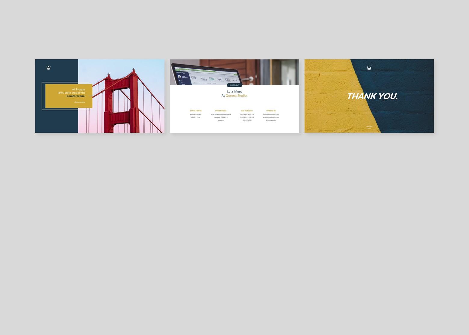 Qorona Creative Business PowerPoint Template