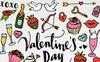 Valentine's Day & Love Hand Sketched Clipart Pack Illustration Big Screenshot