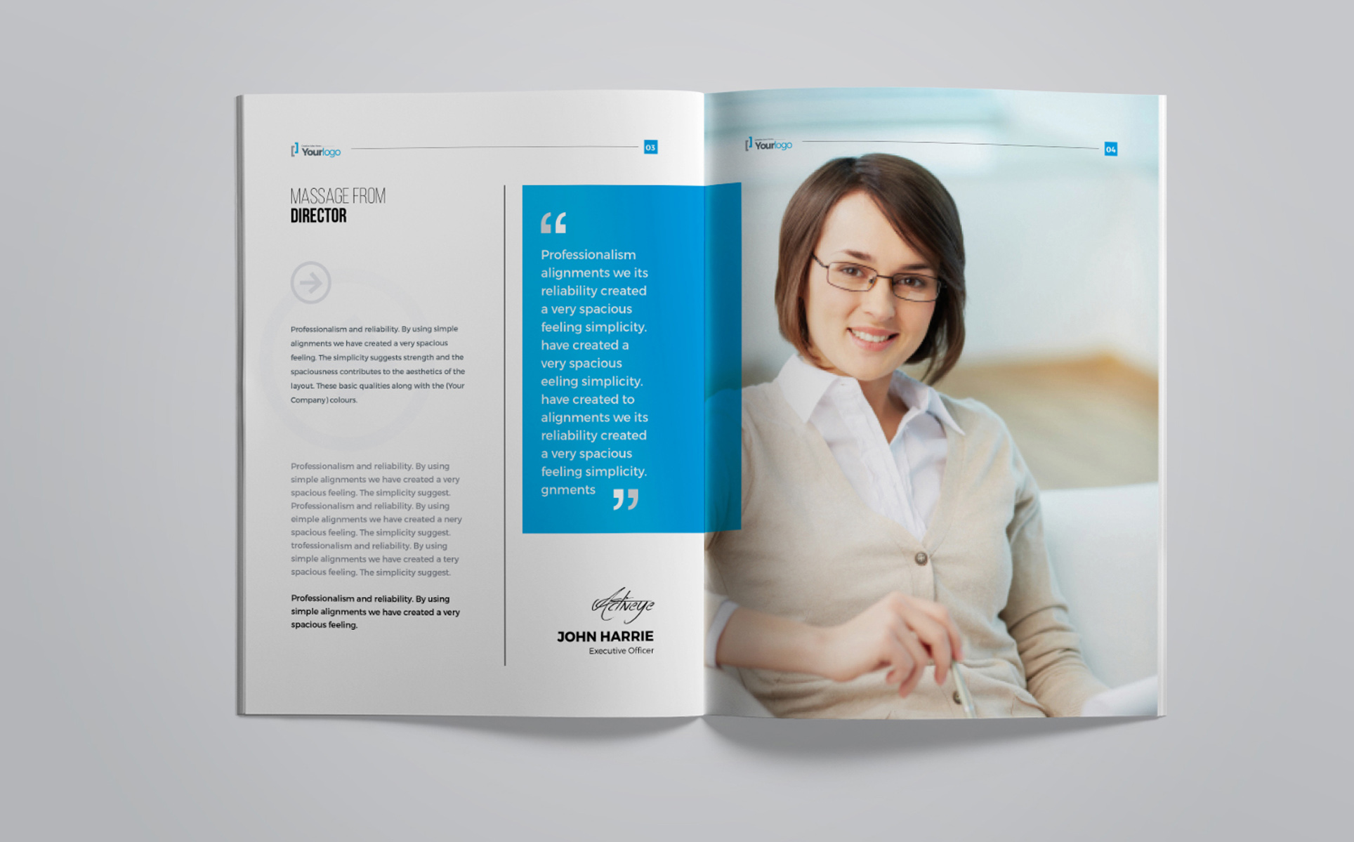 Company Profile Brochure - Corporate Identity Template #67519