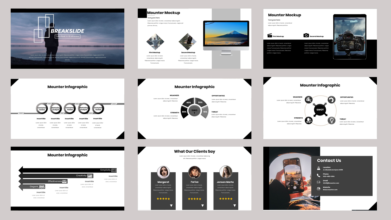 Mounter - Creative Business PowerPoint Template