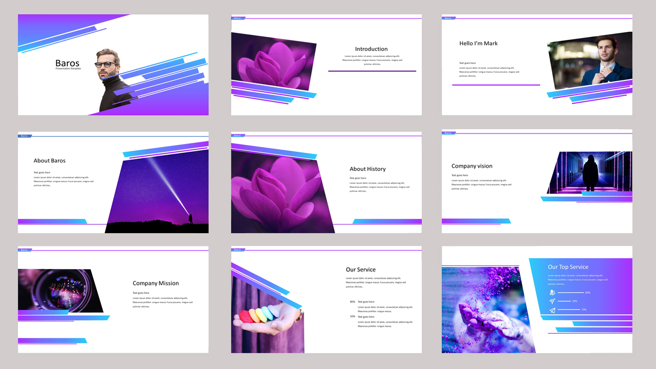 Baros - Creative Business PowerPoint Template
