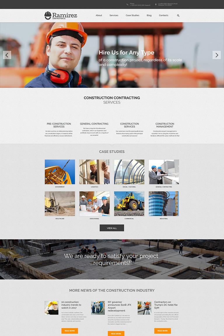WordPress Theme #67225 für Baufirma