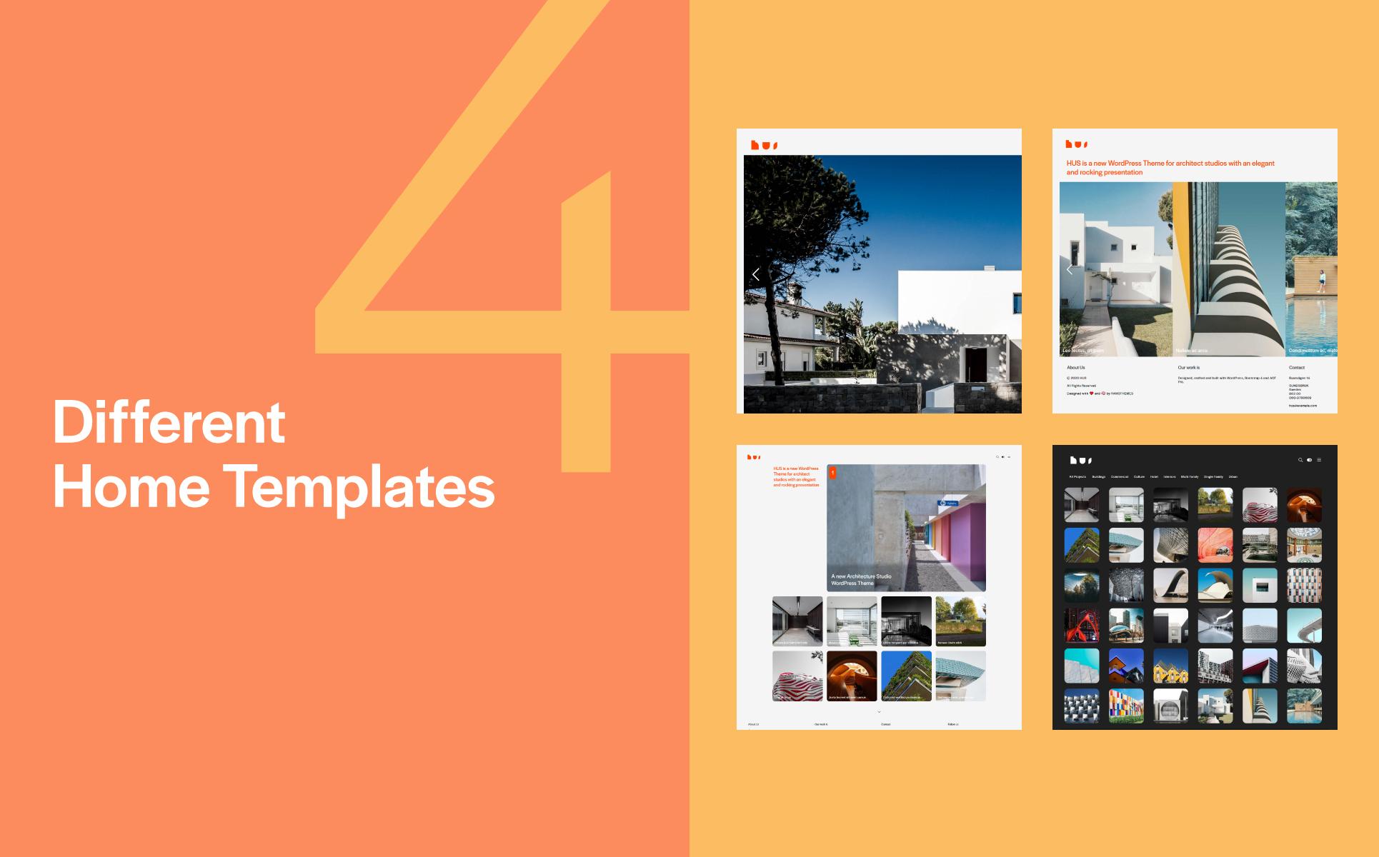HUS - Architecture Bootstrap WordPress Theme