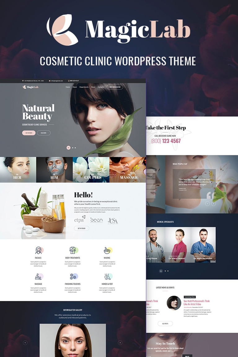 MagieLab - Cosmetic Clinic WordPress Theme