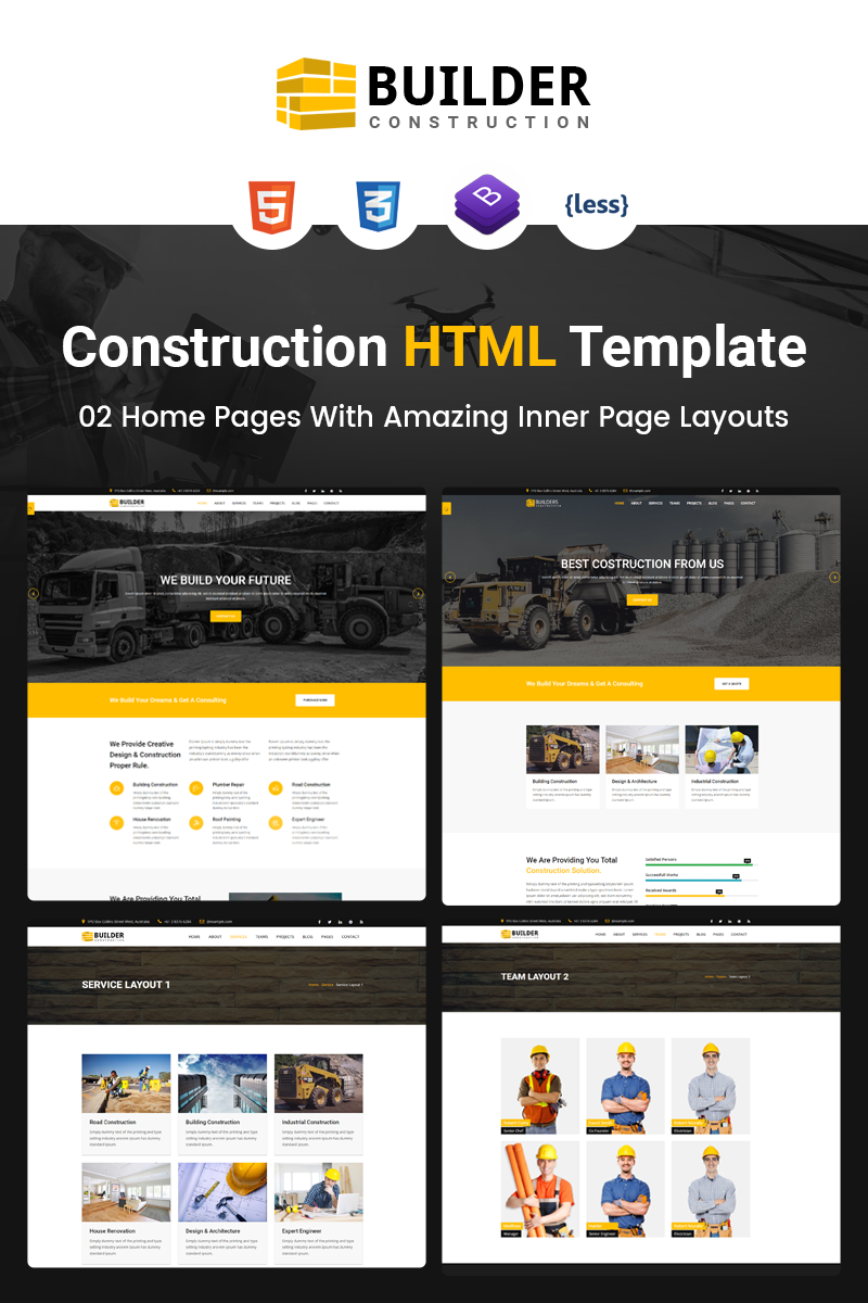 Builder - Construction Company HTML Website Template #67461