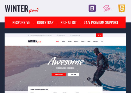 HTML Winter Sports Equipment Shop