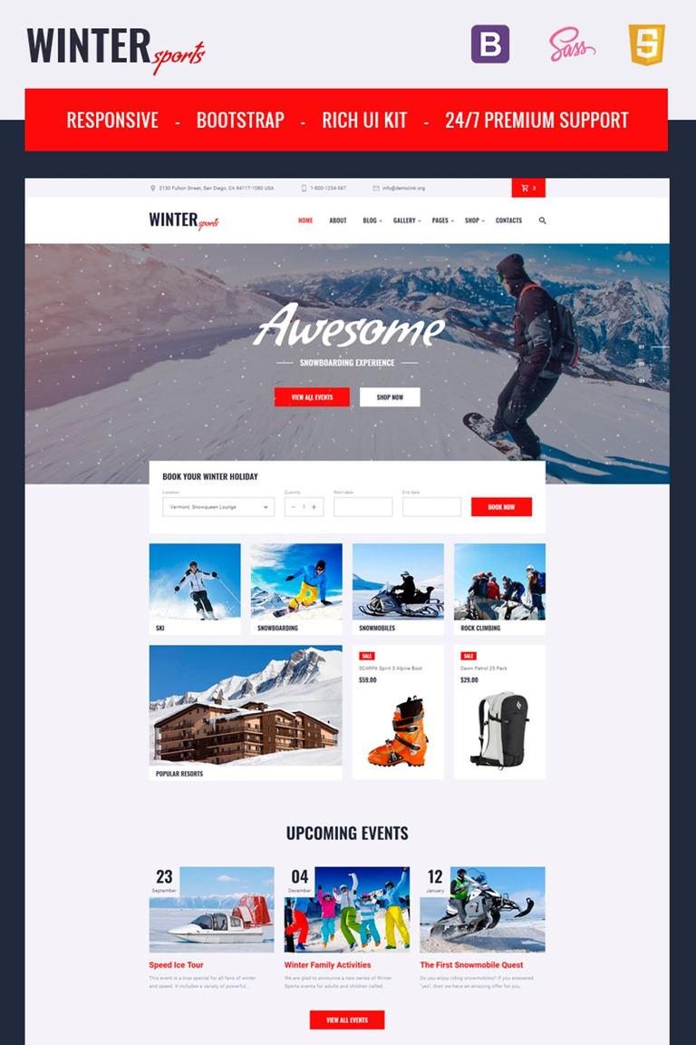 Website Vorlage #67240 für Skilauf