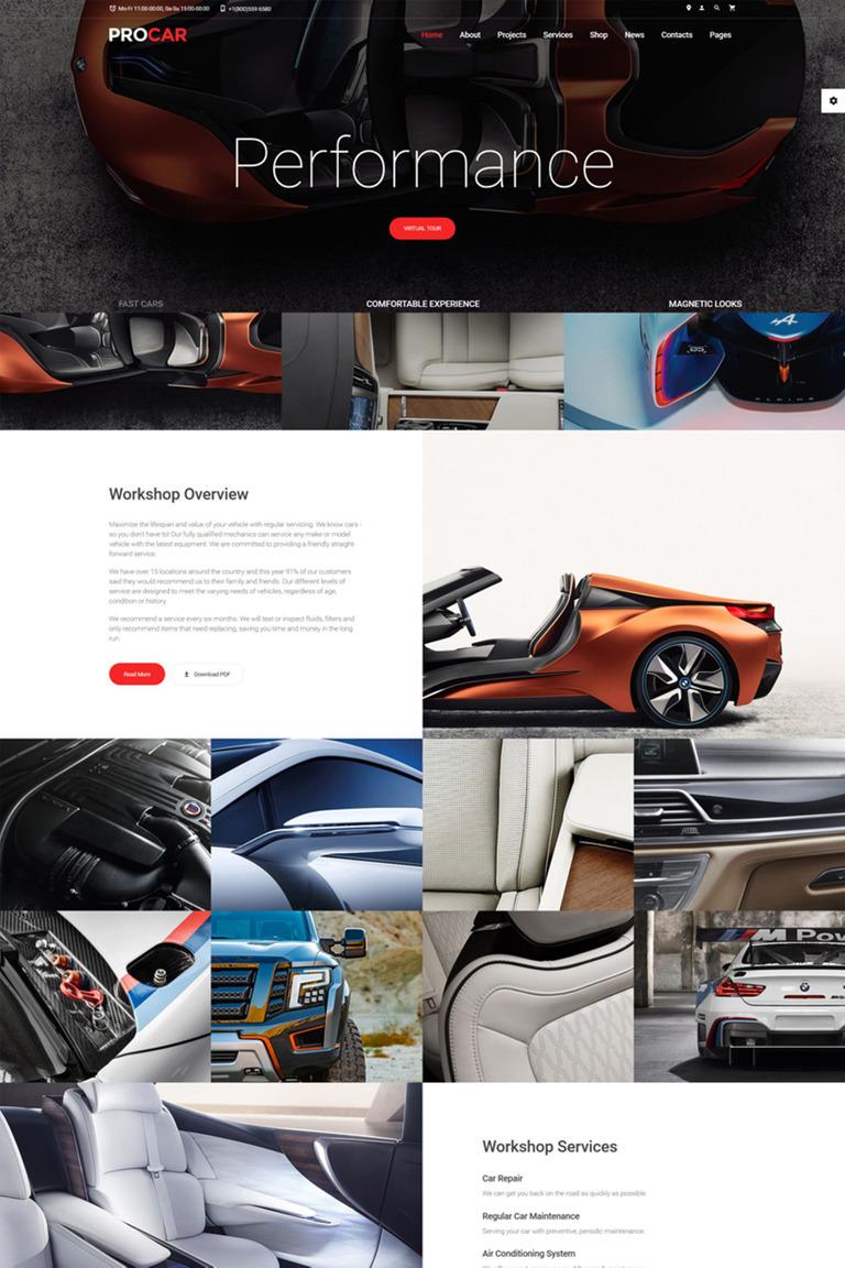 Plantilla Web #67239 para Sitio de Concesionarios de coches