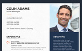 Colin Adams - Hotel Manager Resume Template