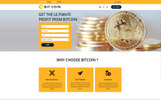 BitCoin - Currency Unbounce Template