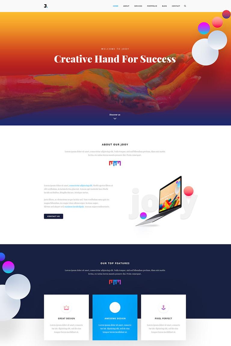 Joy - Corporate HTML Website Template #67251