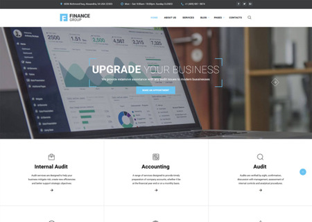 Accounting & Audit Multipage HTML