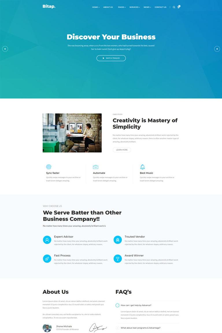 Bitap - Business & Corporate HTML Website Template #67371