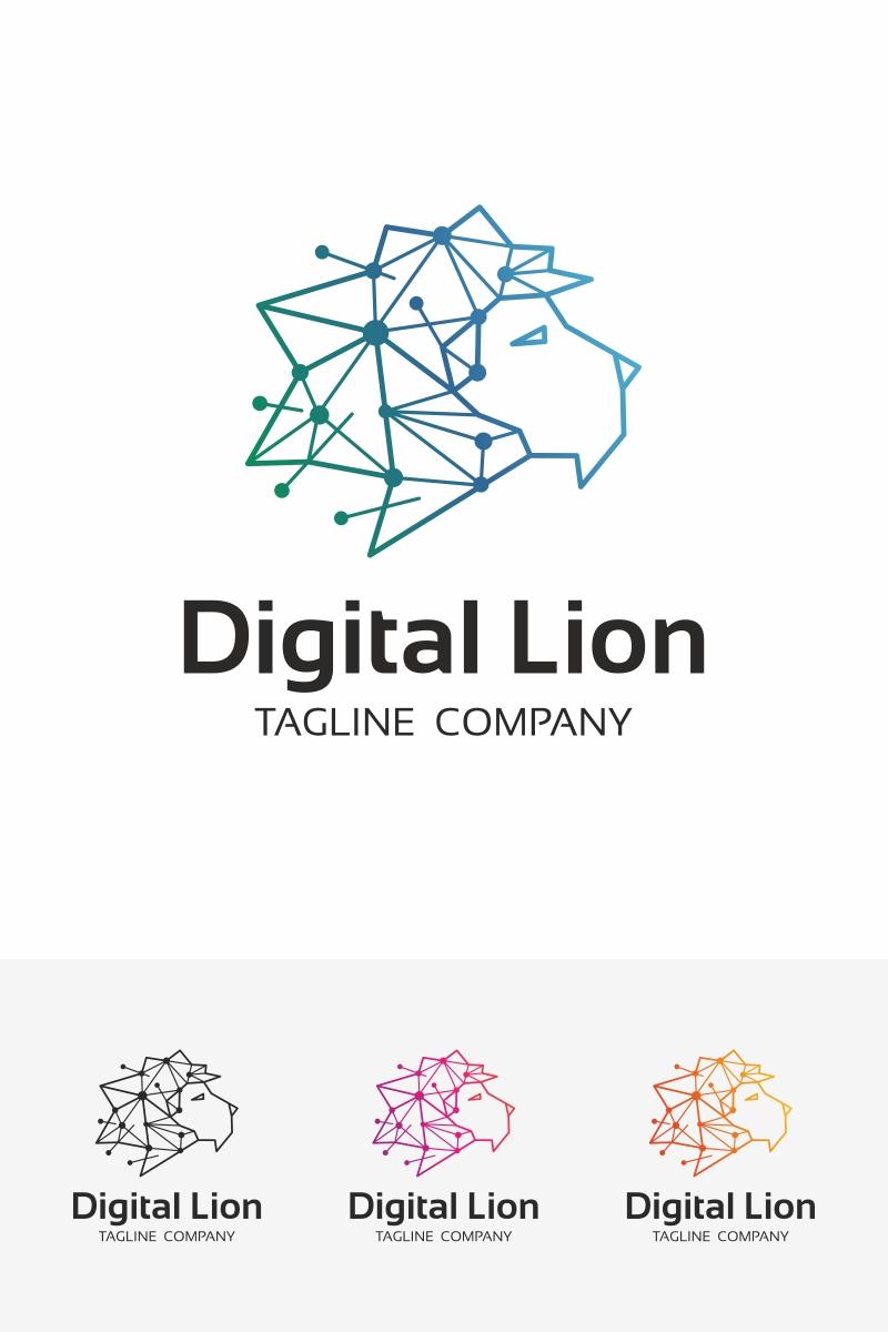 digital lion logo template 67523