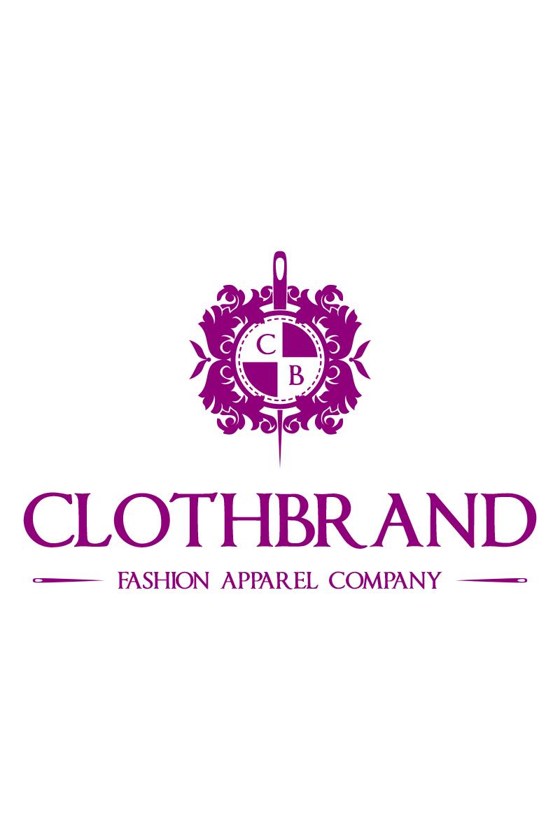 cloth brand crest logo template 67542