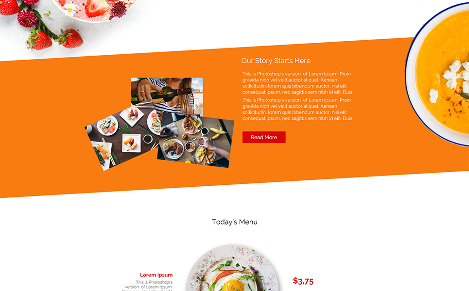 Plantilla PSD #67305 para Sitio de Cafeterías