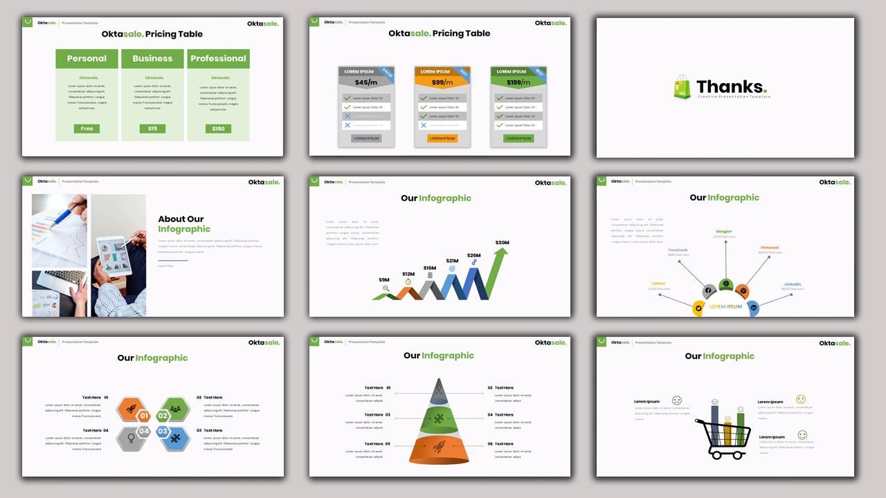 Oktasale - Creative Business PowerPoint Template