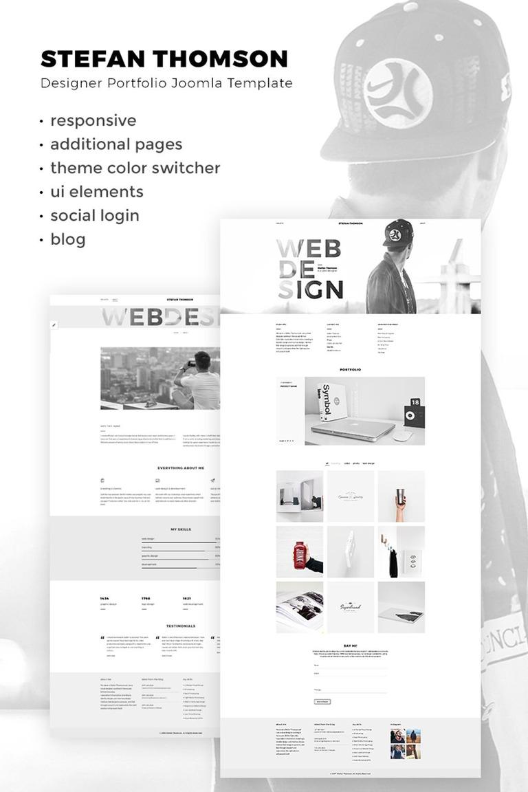 Joomla Vorlage #67286 für Designer Portfolio