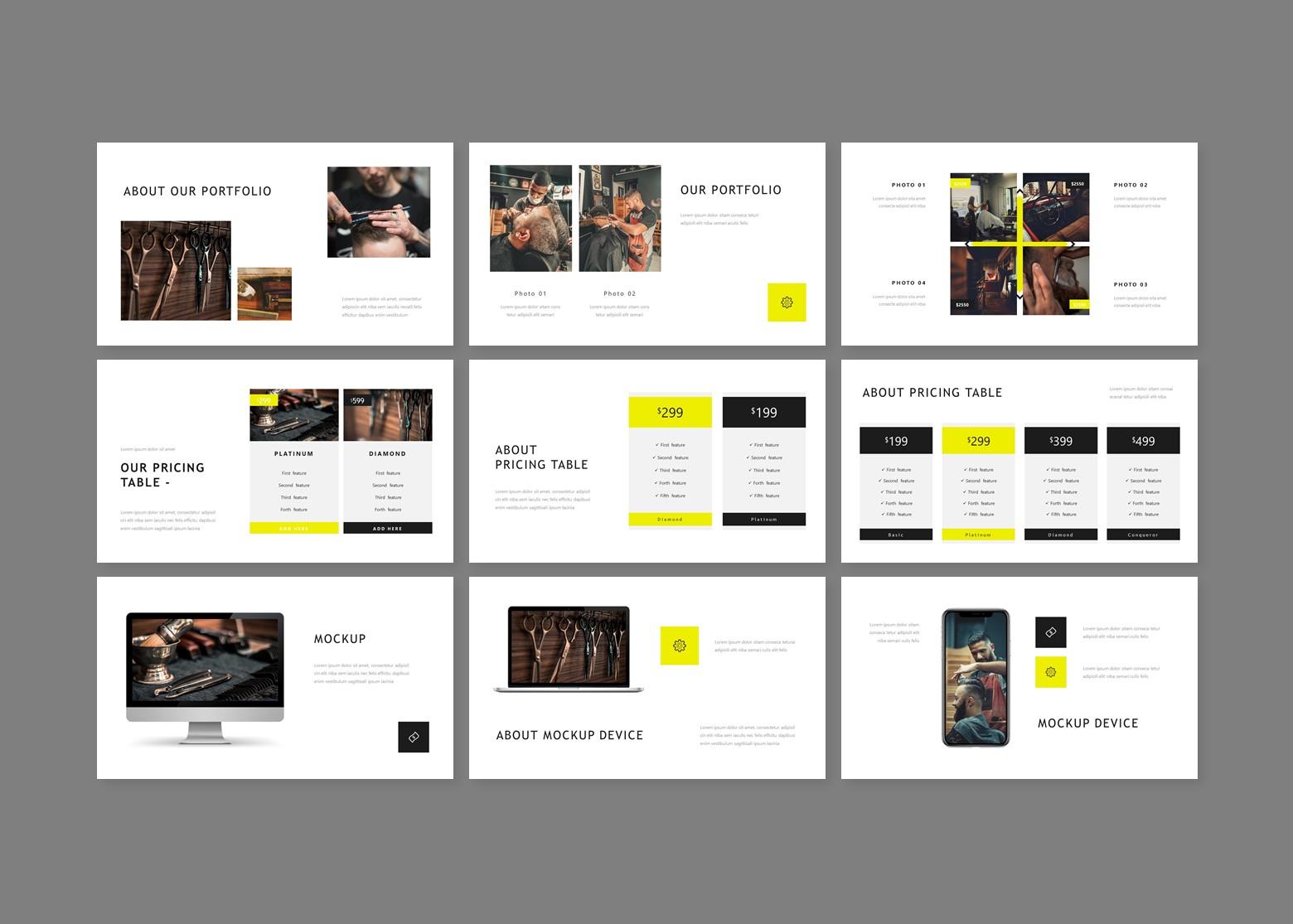 Barberpop Creative Business PowerPoint Template