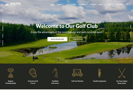 Golf Club Multipage HTML