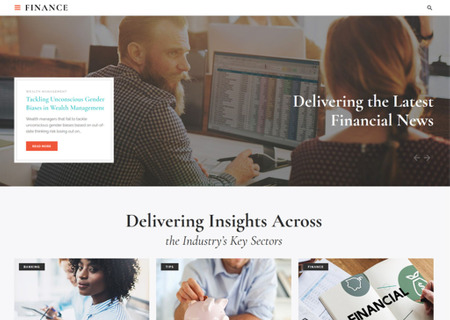 Financial Adviser Agency HTML5 Multipage