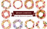 Wreath Collection PNG Watercolor Set Bundle