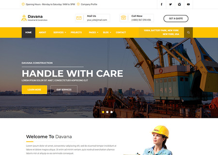 Davana - Responsive Industrial Business Html