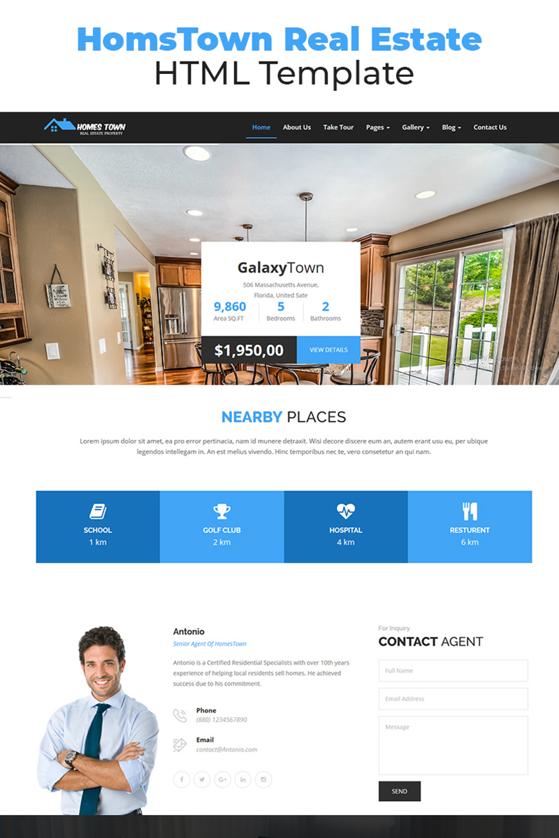 homstown real estate html website template 67750