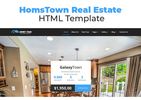 HomsTown Real Estate HTML