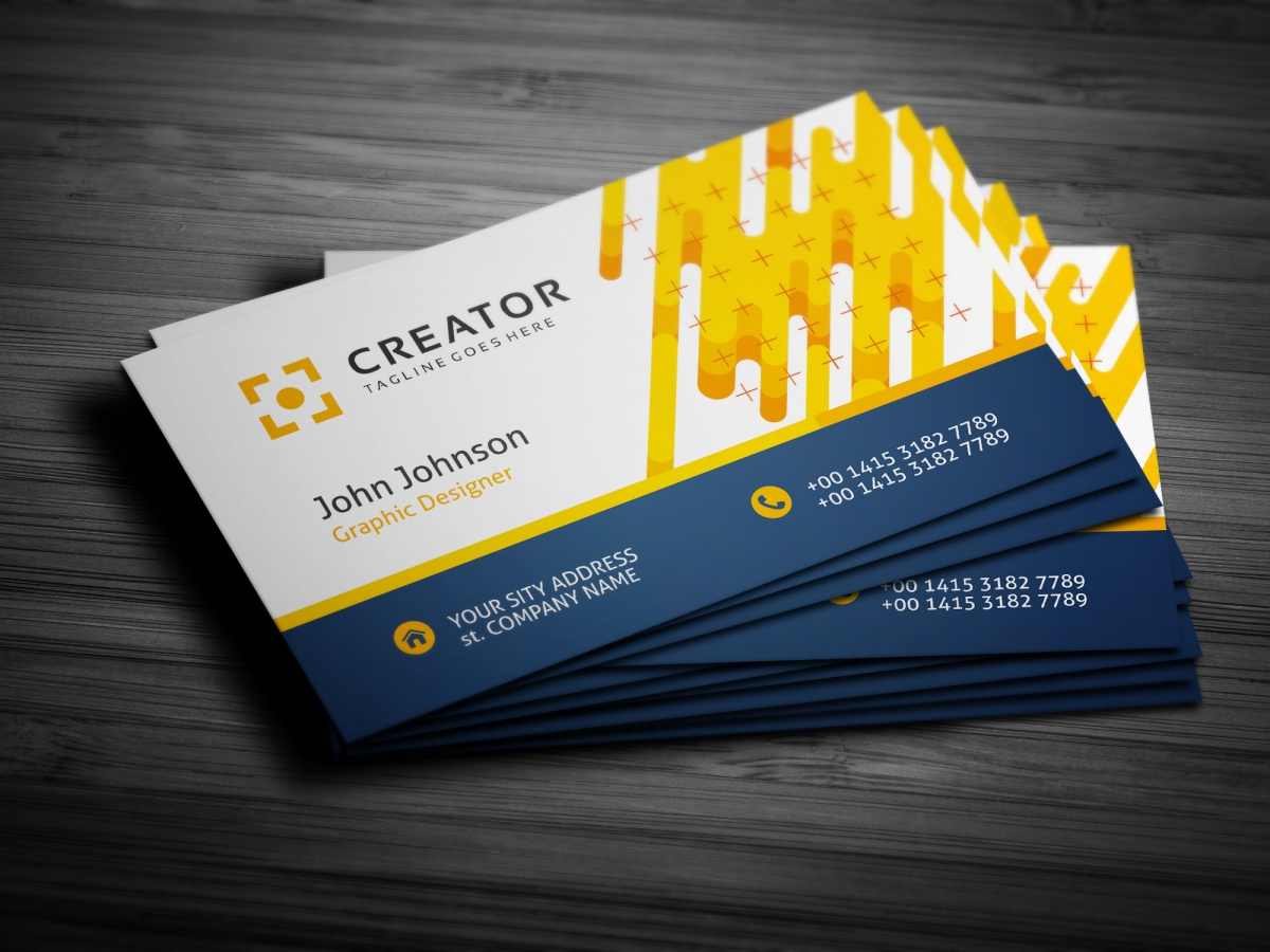 Flat Business Card - Corporate Identity Template #67546