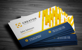 Flat Business Card Corporate Identity Template