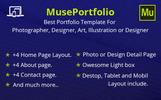 """MusePortfolio -"" 响应式Muse 模板"