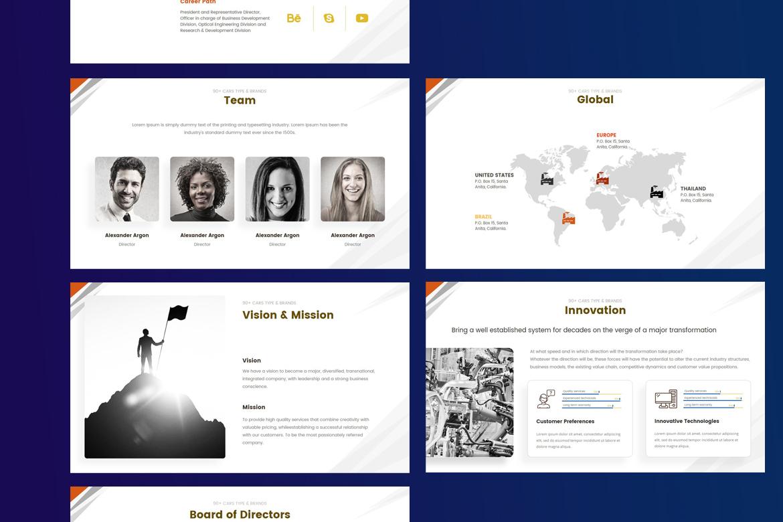 Plantilla PowerPoint #67587 para Sitio de Coches y Motos