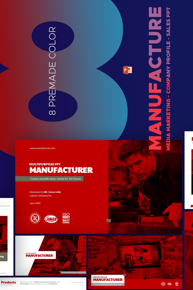 Manufature powerpoint template 67588 alramifo Images
