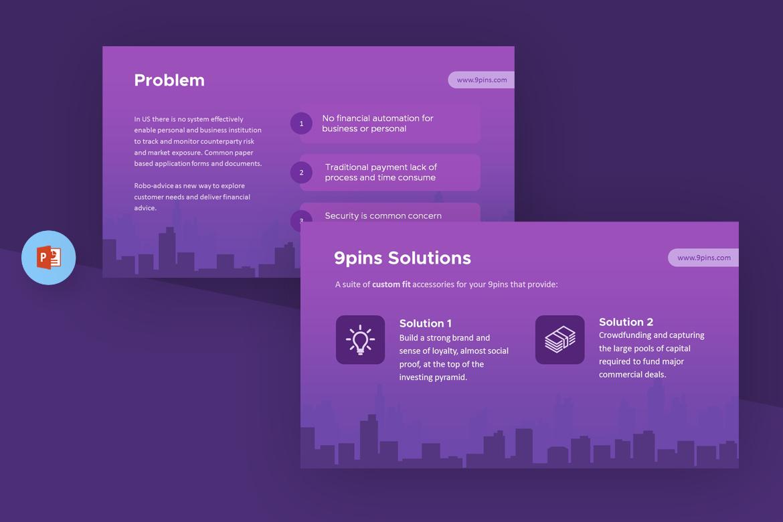 Template powerpoint para sites de empresa de investimentos 67621 toneelgroepblik Images