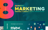 "PowerPoint Vorlage namens ""Digital Marketing Agency -"""