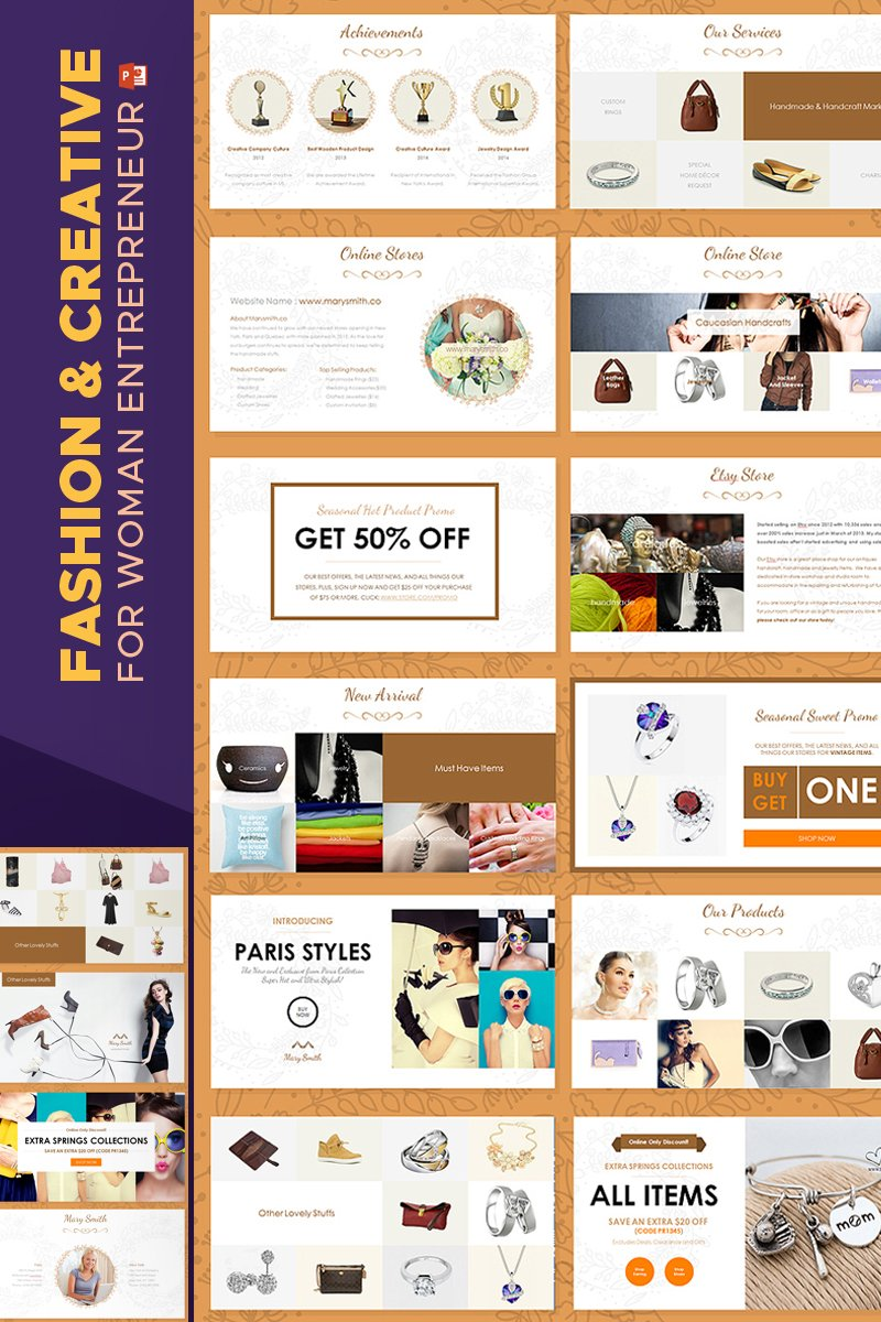 Buy Powerpoint Templates | Fashion Creative Catalogue Powerpoint Template 67597