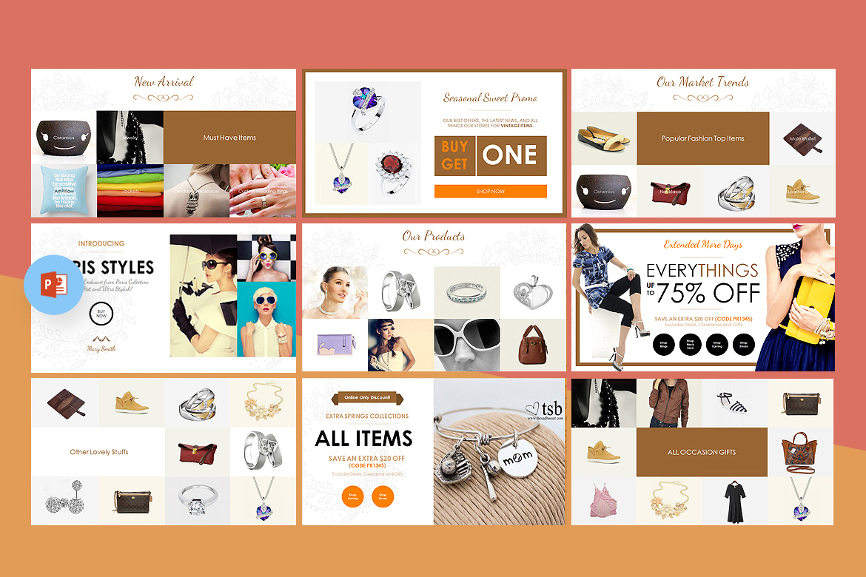 Fashion creative catalogue powerpoint template 67597 zoom in toneelgroepblik Gallery