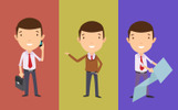 Business People Character Set Illustration